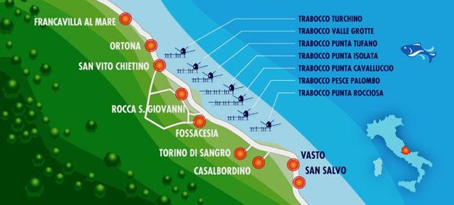 cartita trabocchi in Abruzzo