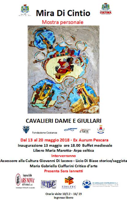 Mira Di Cintio dal 13 al 20 maggio mostra Aurum Pescara