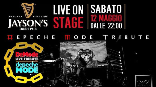 Tributo Depeche Mode DeMode Jayson's Pescara 12 maggio
