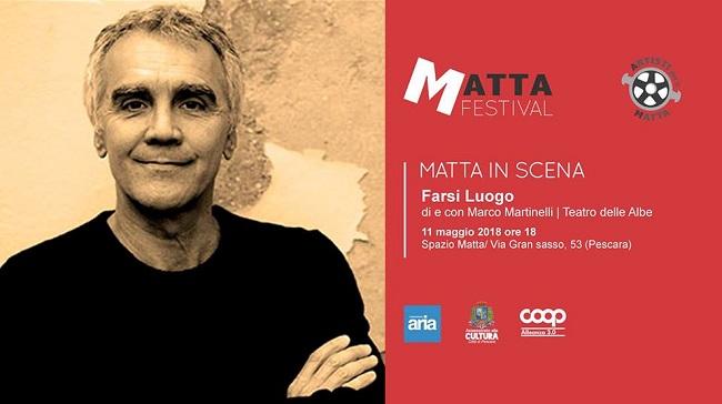 Marco Martinelli Farsi luogo lettura scenica Pescara