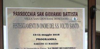 Villa San Giovanni Rosciano, festa S.S. Volto Santo 2018