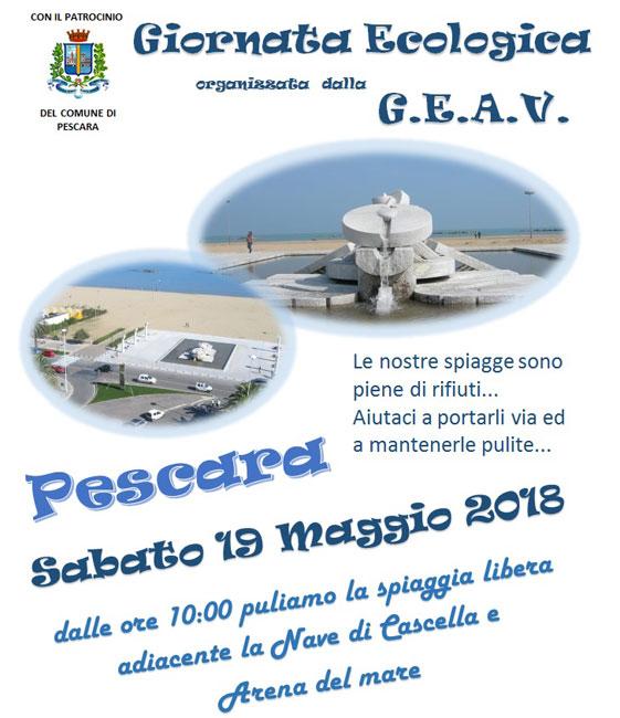 giornata ecologica Pescara 19 maggio 2018