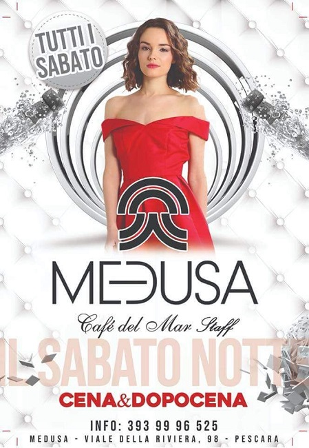 Medusa sabato latino 5 maggio 2018 riviera Pescara