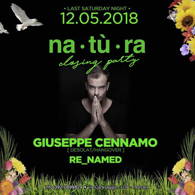 Natura party di chiusura 12 maggio 2018