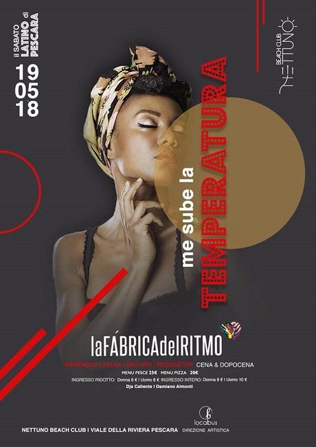 Nettuno serata latina Pescara 19 maggio 2018