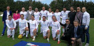 Pescara Bari vecchie glorie in campo
