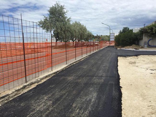portanuova asfalto nuova strada