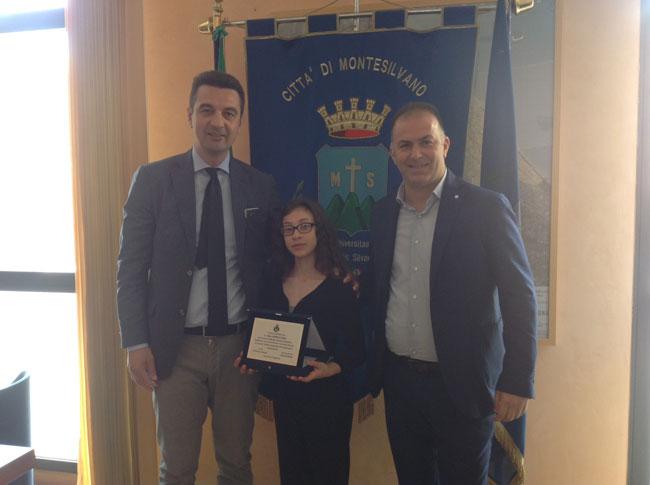 premiazione Sara Verrocchio Montesilvano
