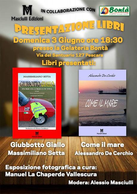 Presentazione libri Gelateria Bontà Pescara 3 giugno 2018