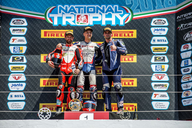 Federico D'Annunzio vince Imola CIV National Trophy 1000