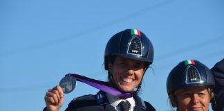 Equitazione Velia Angelini medaglia d'argento Campionato d'Europa