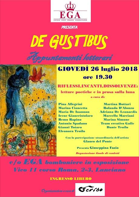 Locandina DE GUSTIBUS - 26 lu