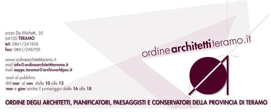 Ordini degli Architetti, Pianificatori, Paesaggisti e Conservatori
