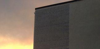 Aielli libro Fontamara scritto su un muro
