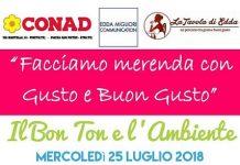 Bon Ton e l'Ambiente appuntamento 25 luglio Pineto