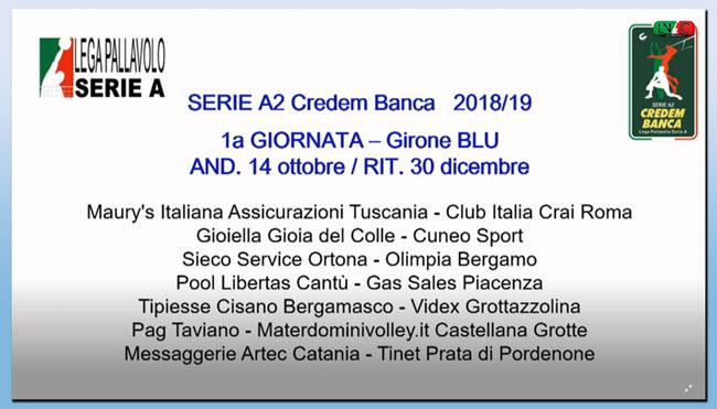 Serie A2 Pallavolo Maschile Calendario.Calendario Sieco Service Impavida Ortona 2018 2019