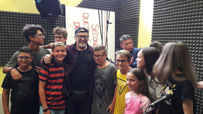 ragazzi centro musicale L'Assolo incontrano Vasco Rossi