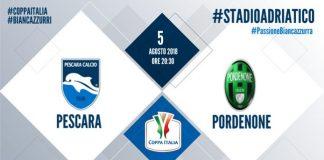 Coppa Italia Pescara Pordenone biglietti info