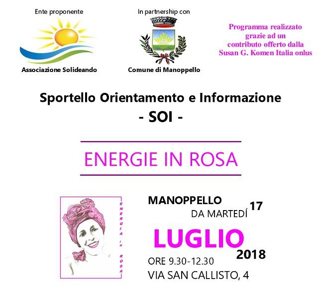 Manoppello Energie in Rosa oggi progetto