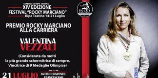 Valentina Vezzali serata finale Premio Rocky Marciano