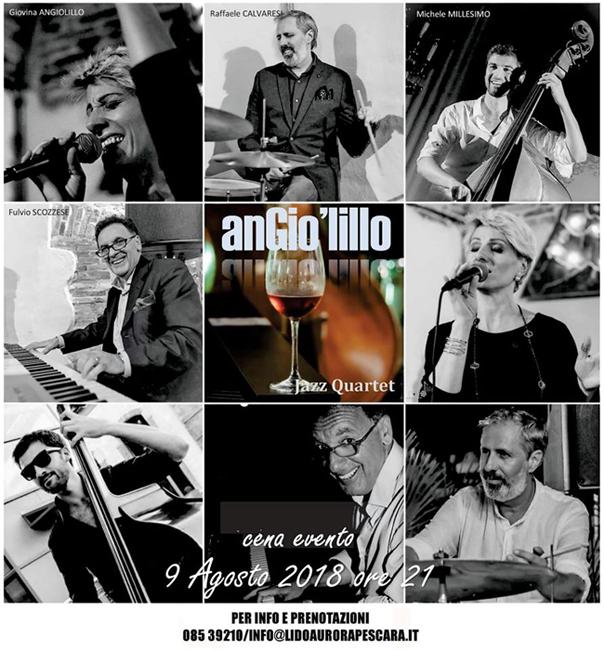 AnGio'lillo Jazz Quartet a Lido Aurora Pescara 9 agosto 2018
