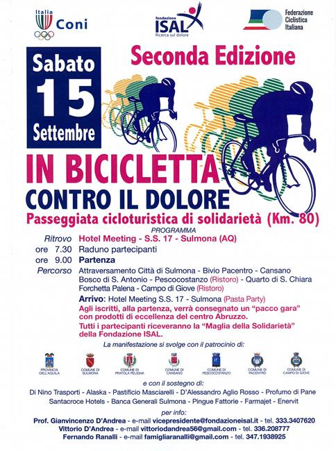 Sulmona In Bicicletta contro il dolore
