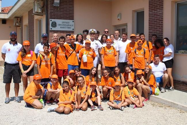 Incontro ragazzi Campo scuola protezione civile Guardia Costiera