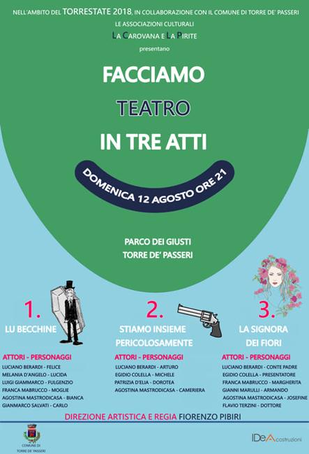 Torre de' Passeri Facciamo teatro in tre anni 12 agosto 2018