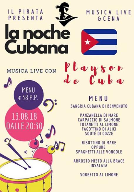 la noche cubana 13 agosto 2018