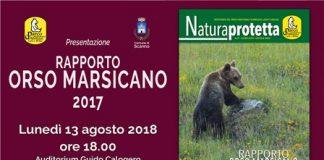 rapporto orso marsicano 2017