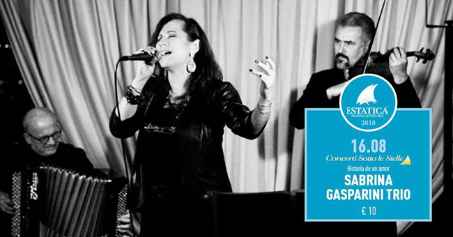 Sabrina Gasparini trio 16 agosto 2018 Pescara