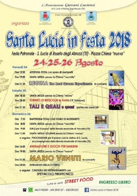 santa lucia in festa 2018