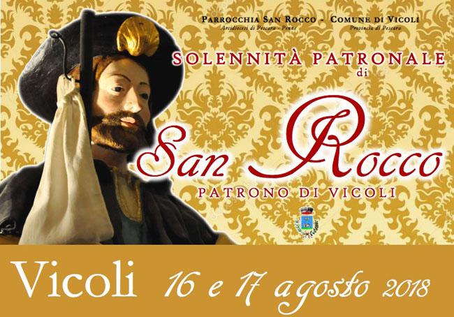 Vicoli festa patrono San Rocco 2018