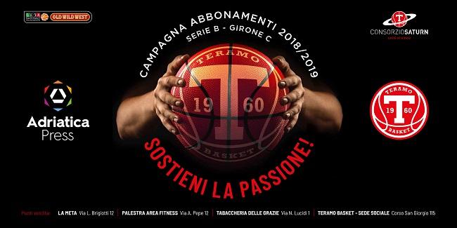 teramo basket abbonamenti 2018 2019