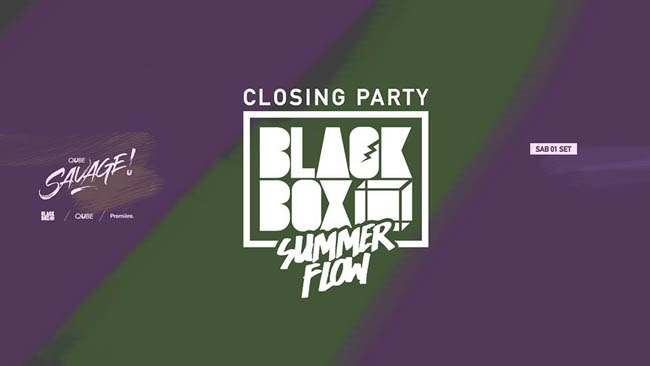 Blackbox Summer Flow serata 1 settembre 2018 Qube Savage Pescara