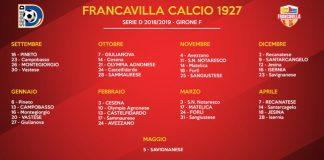calendario francavilla calcio 2018 2019