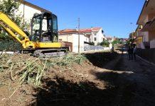 lavori via Calderone Pescara