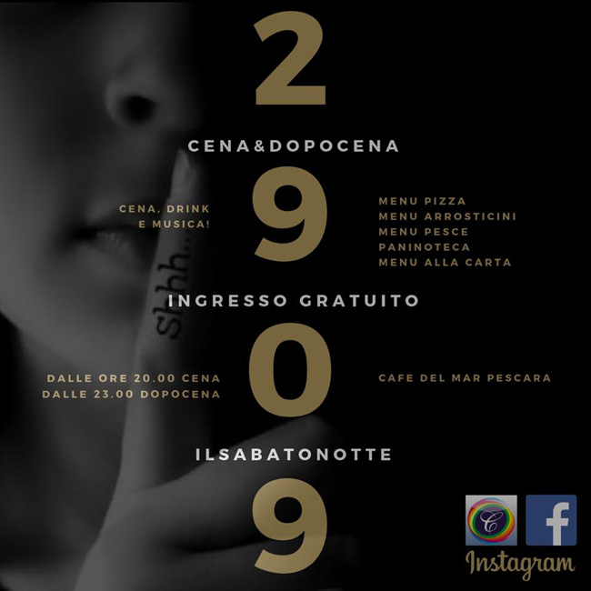 Medusa sabato latino 29 settembre 2018 riviera Pescara