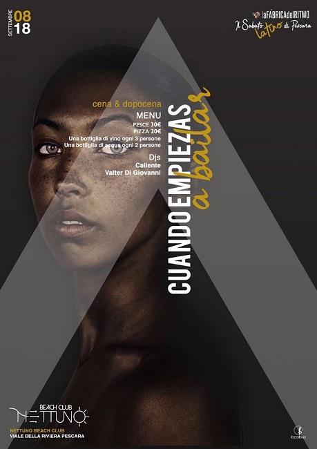 Nettuno disco a Pescara 8 settembre 2018