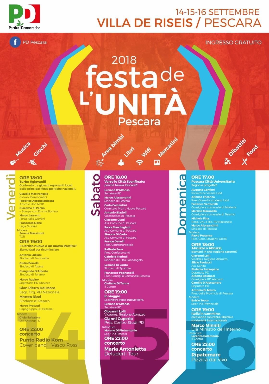 programma festa unità