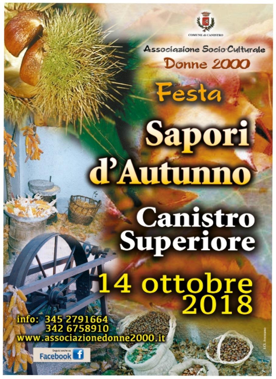 sapori d'autunno canistro superiore 2018