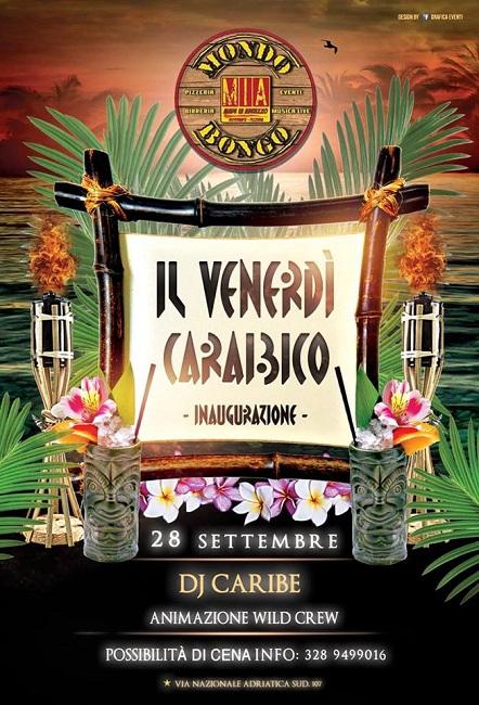 venerdì caraibico mondo bongo