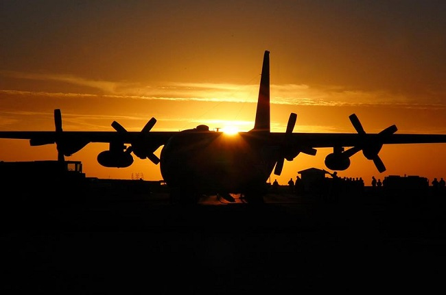 aereo tramonto