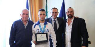 Alessandro Caputo con Riccardo Bergamini in Comune