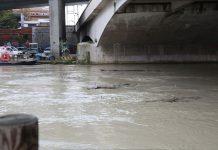 fiume Pescara acqua alta