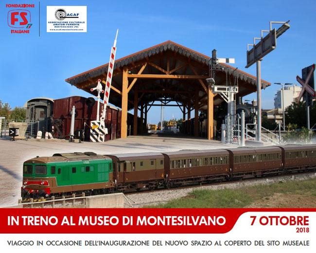 inaugurazione tettoia museo ferroviario Montesilvano