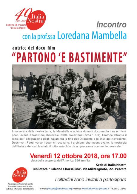 Loredana Mambella 12 ottobre 2018