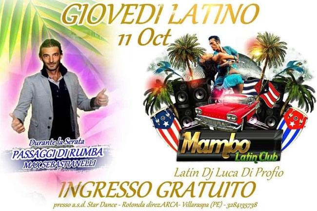 Mambo latin club 11 ottobre 2018