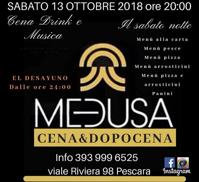 Medusa 13 ottobre 2018
