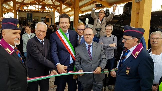 Montesilvano inaugurata oggi la tettoia del museo del treno